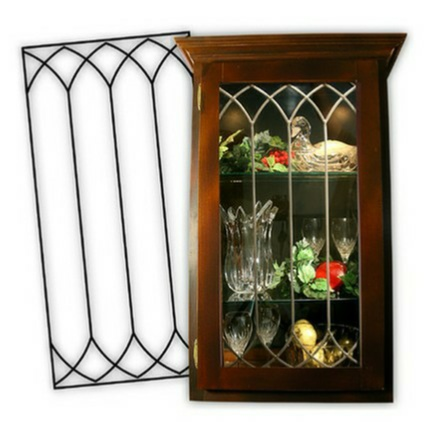 Attirant A Great Solution For Kitchen Cabinets, REAL Leaded Glass NOT An Imitation