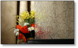 Cabinet Pattern Delta Frost Glass #HG-2300