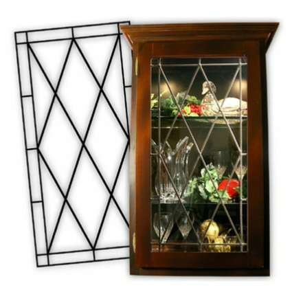 Compliment your kitchen with Leaded Glass cabinet glass inserts from Woelky's Glass Studio