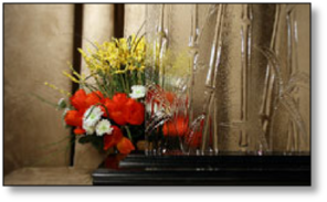 Cabinet Decorative Bamboo Glass #HG-0100