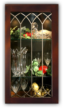 CABINET GLASS INSERTS   LEADED GLASS PANELS