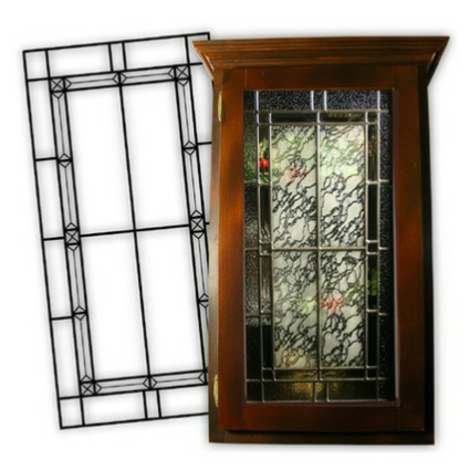 Our Leaded Glass Inserts are real leaded glass not an imitation