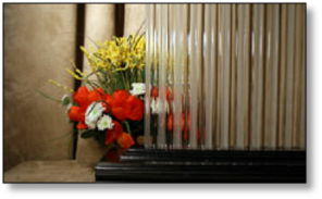 Cabinet DecorativeFlute Frost  Glass #HG-2700