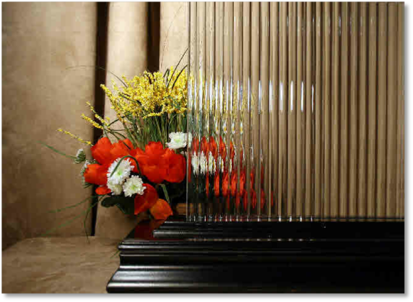 Enlarged view of Reeded Glass cut to your size
